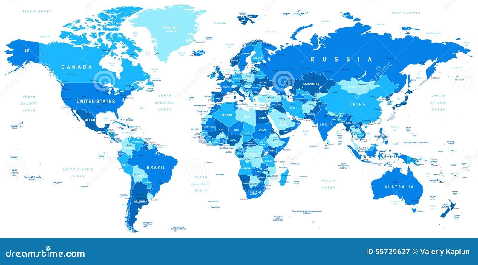 Elegant Weltkarte Mit Städten Beste Wahl Pattern Blaue - Grenzen, Länder Und Städte