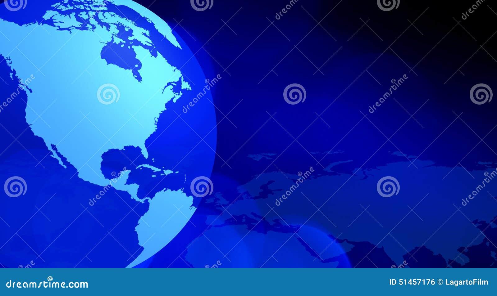 Blauer abstrakter Hintergrund der Kontinente