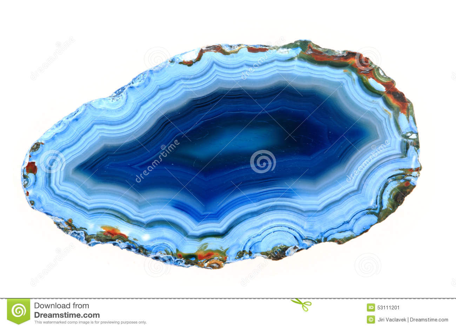 Blauer Achat Lokalisiert Stockbild Bild Von Stein Beschaffenheit