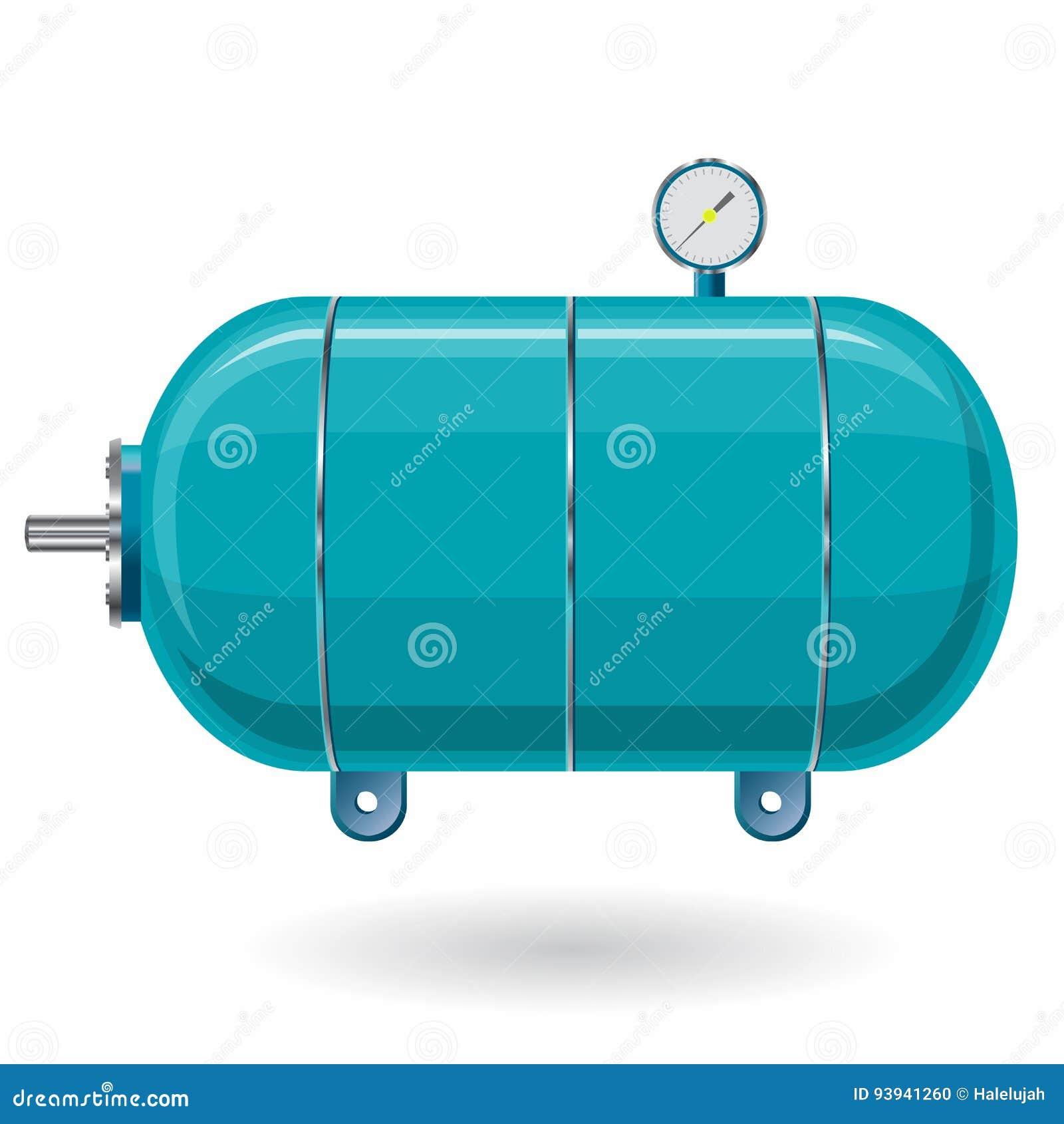 blauer druckbehälter für wasser, gas, luft druckbehälter für