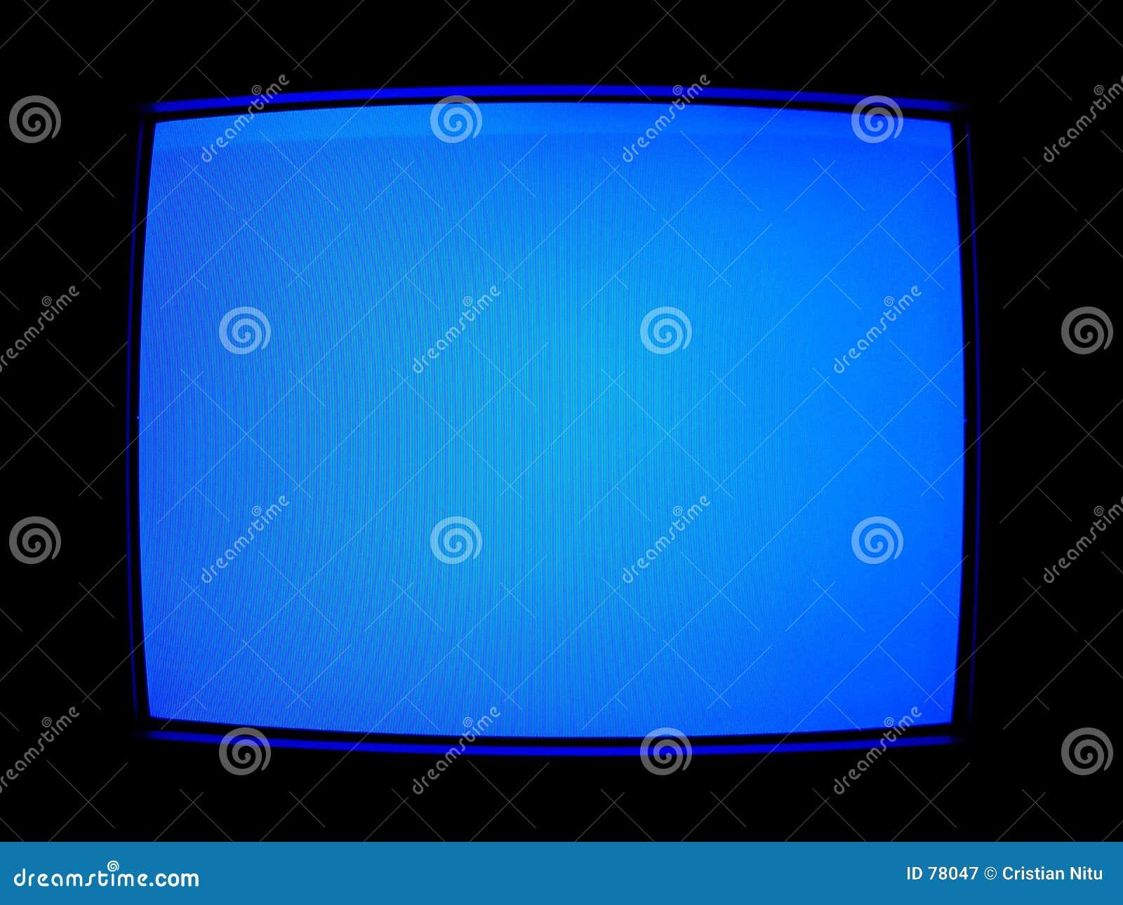 Blauer Fernsehbildschirm