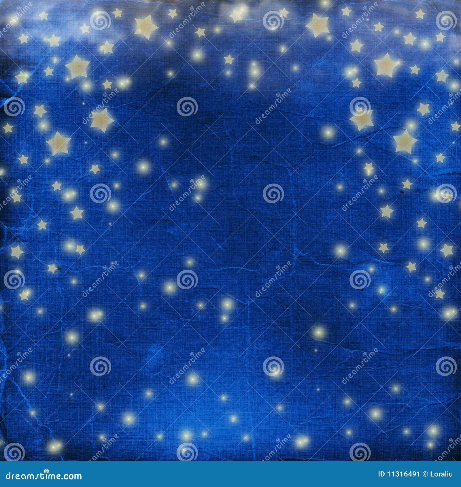 Blauer freundlicher Hintergrund mit Sternen