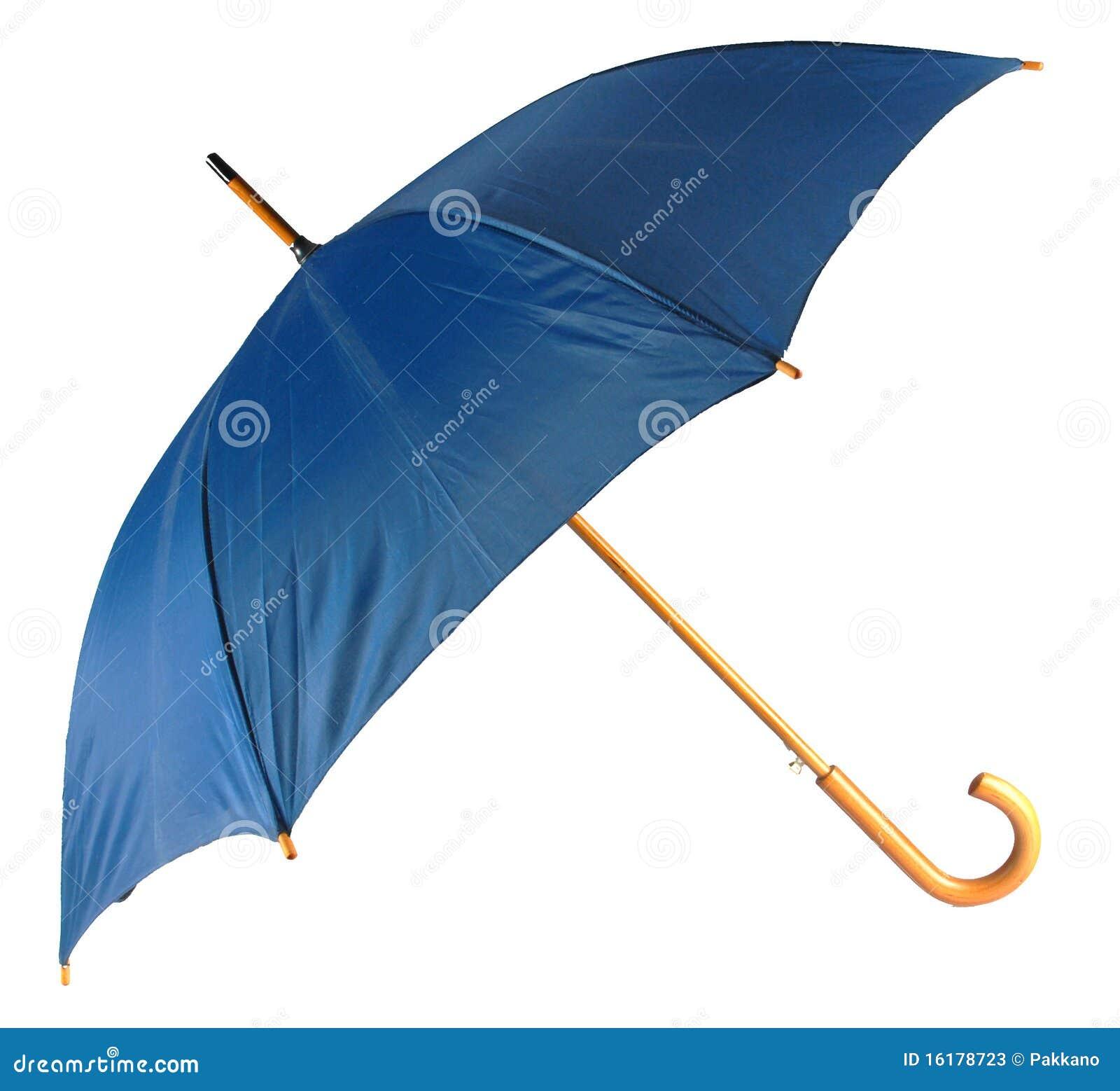 Blauer getrennter Regenschirm
