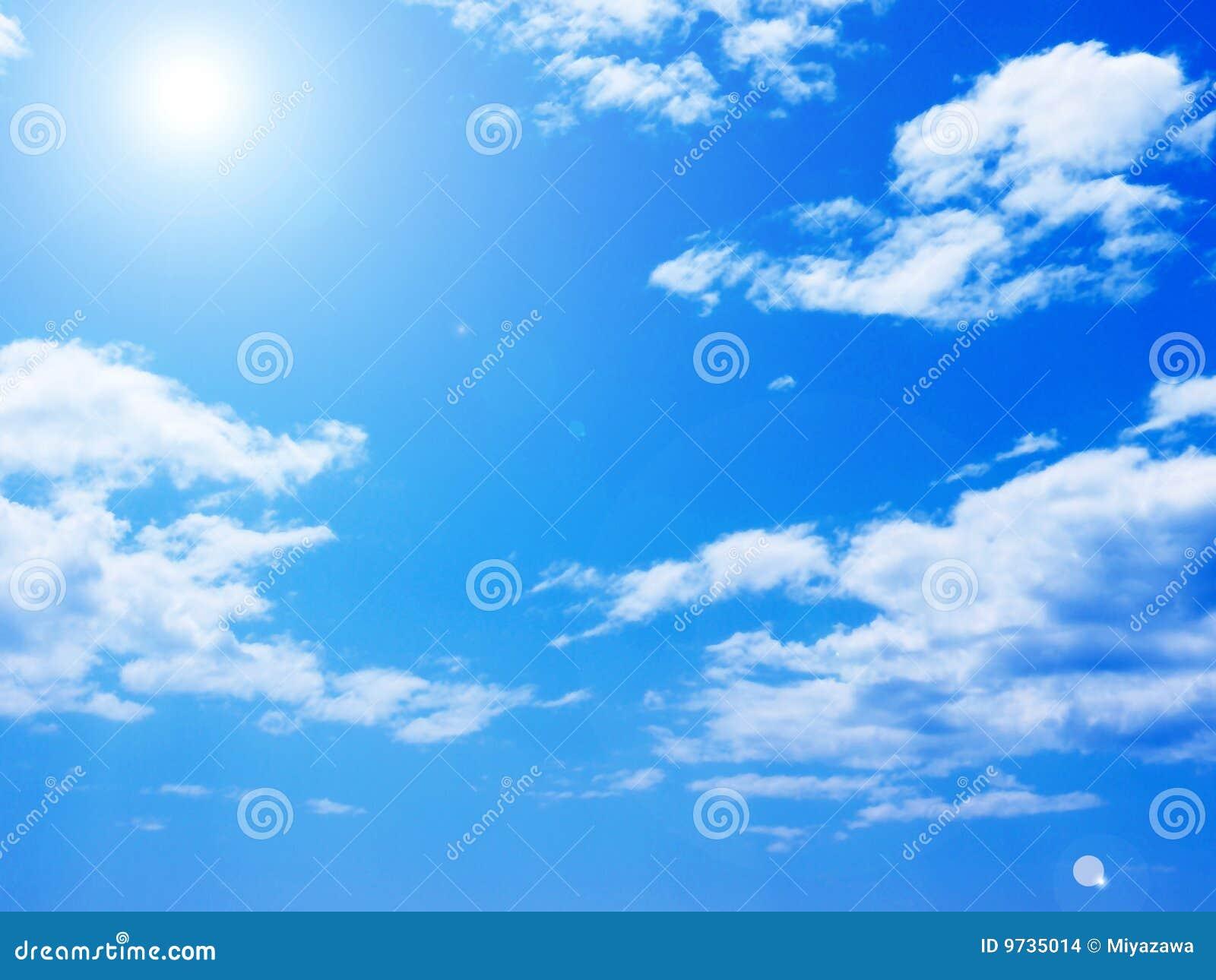 Blauer Himmel stockfoto. Bild von hintergrund, kosmos - 9735014