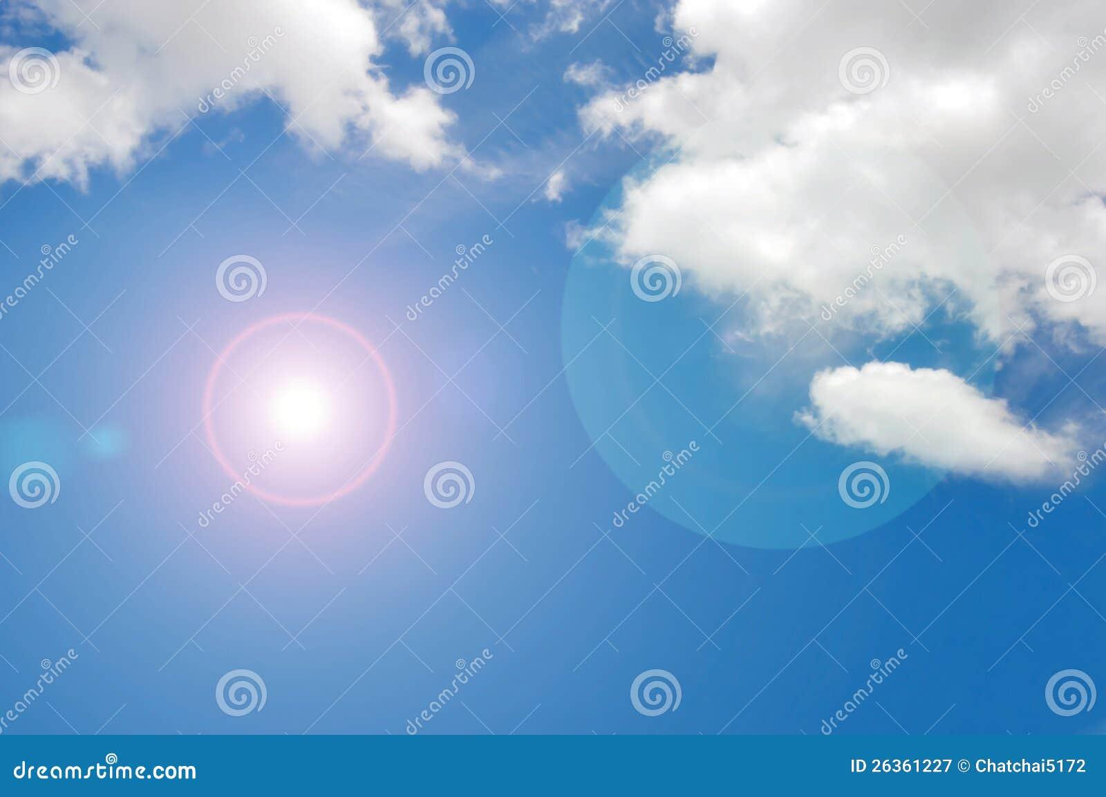 Blauer Himmel u. Wolke