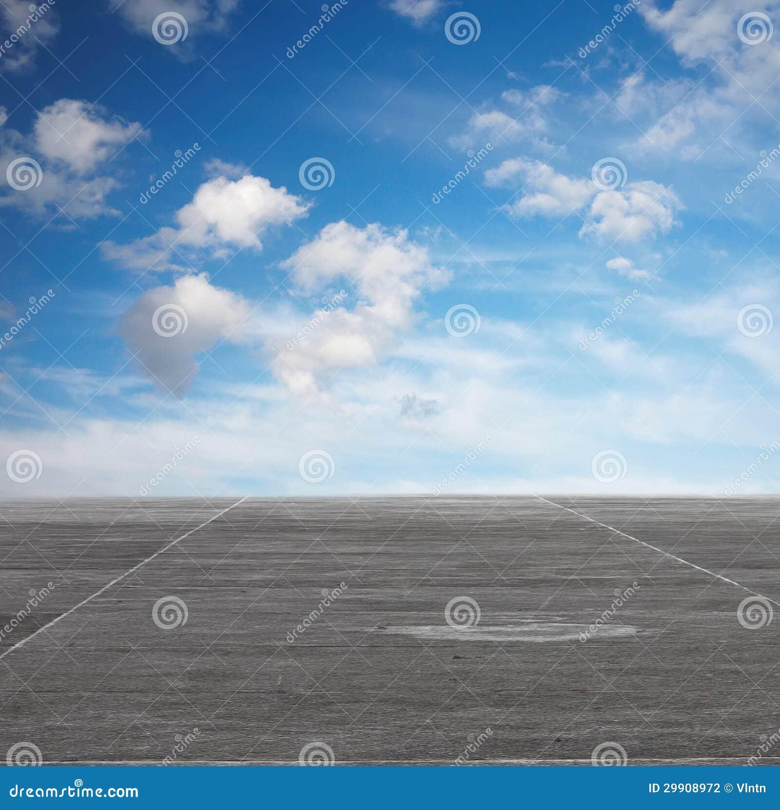Blauer himmel und grauer boden stockfotografie bild for Boden desktop