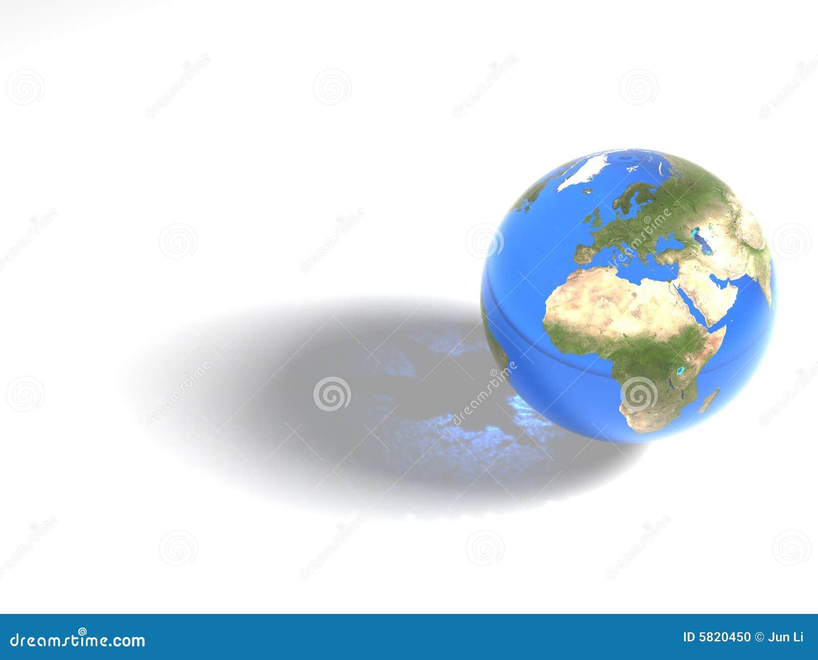 Blauer Marmor - Afrika u. Europa