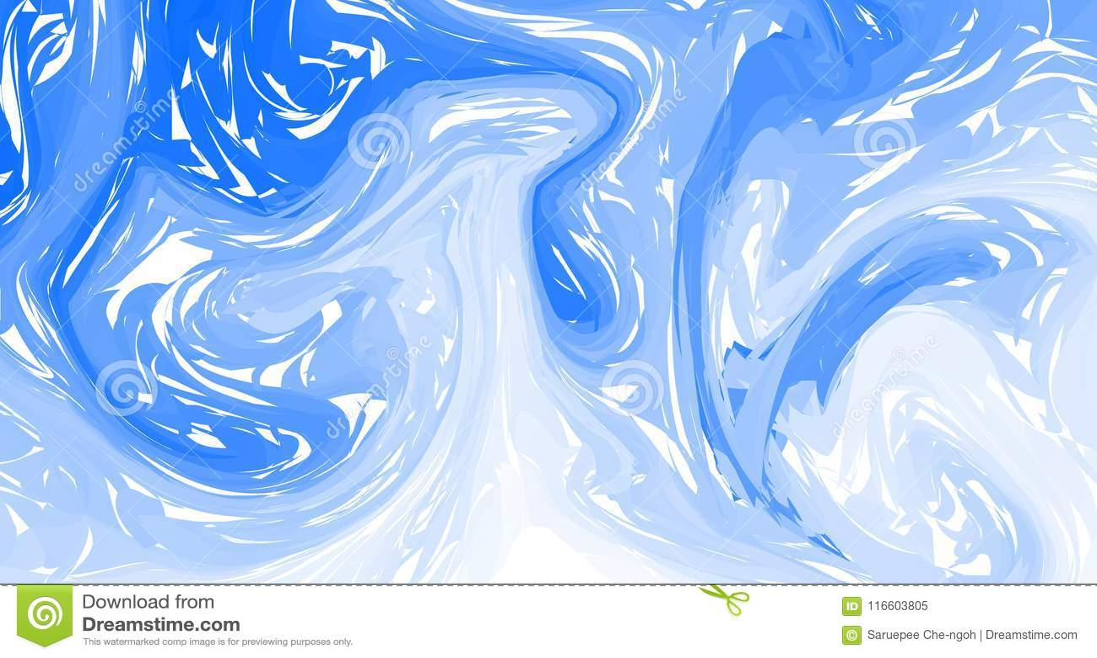 Blauer Marmor, Vektormarmorbeschaffenheit Flüssiger bunter Formhintergrund