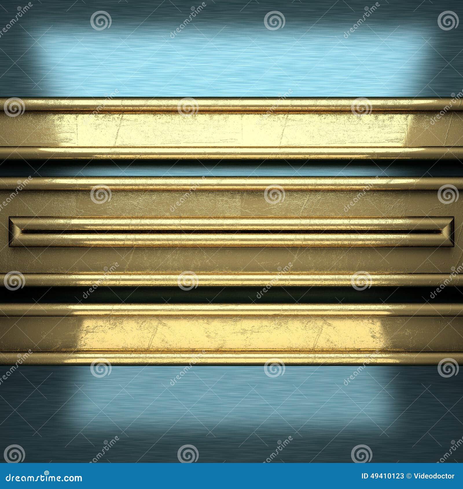 Download Blauer Metallhintergrund Mit Gelbem Element Stock Abbildung - Illustration von zeilen, metall: 49410123