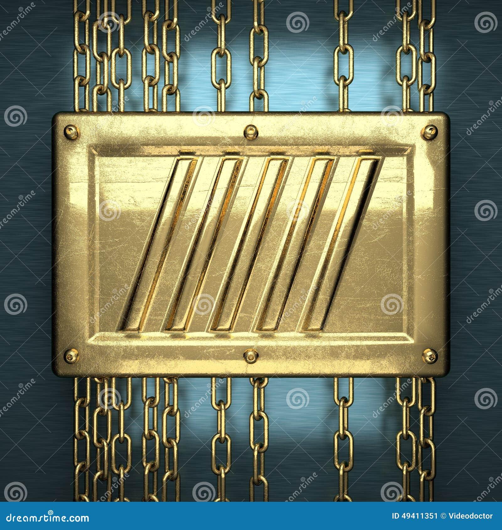 Download Blauer Metallhintergrund Mit Gelbem Element Stockbild - Bild von dekorativ, haltbar: 49411351