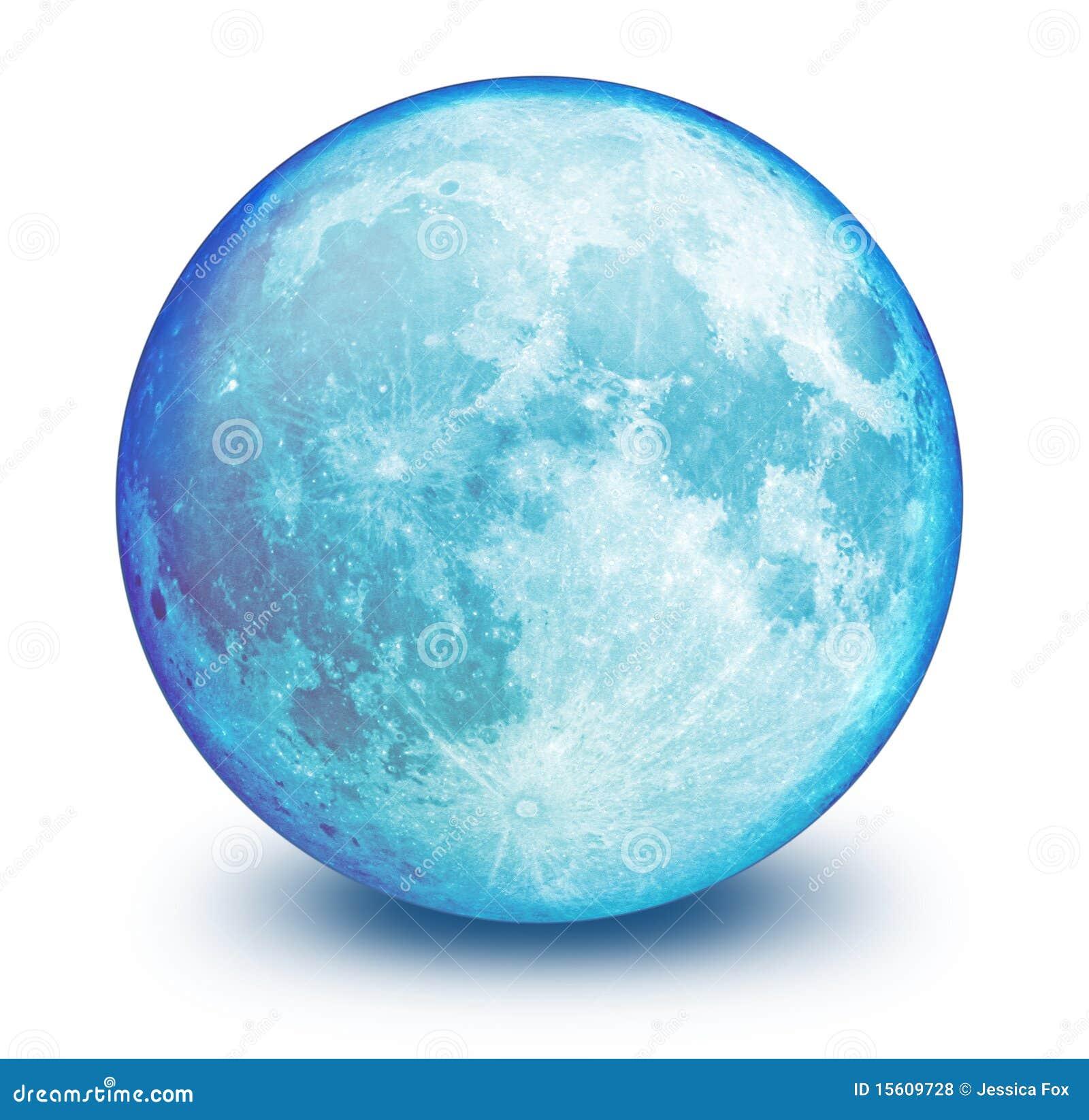 Blauer Mond-Kugel