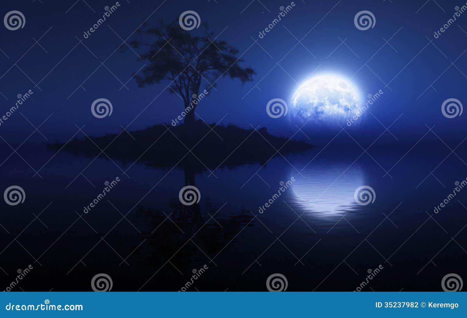 Blauer Mond-Licht