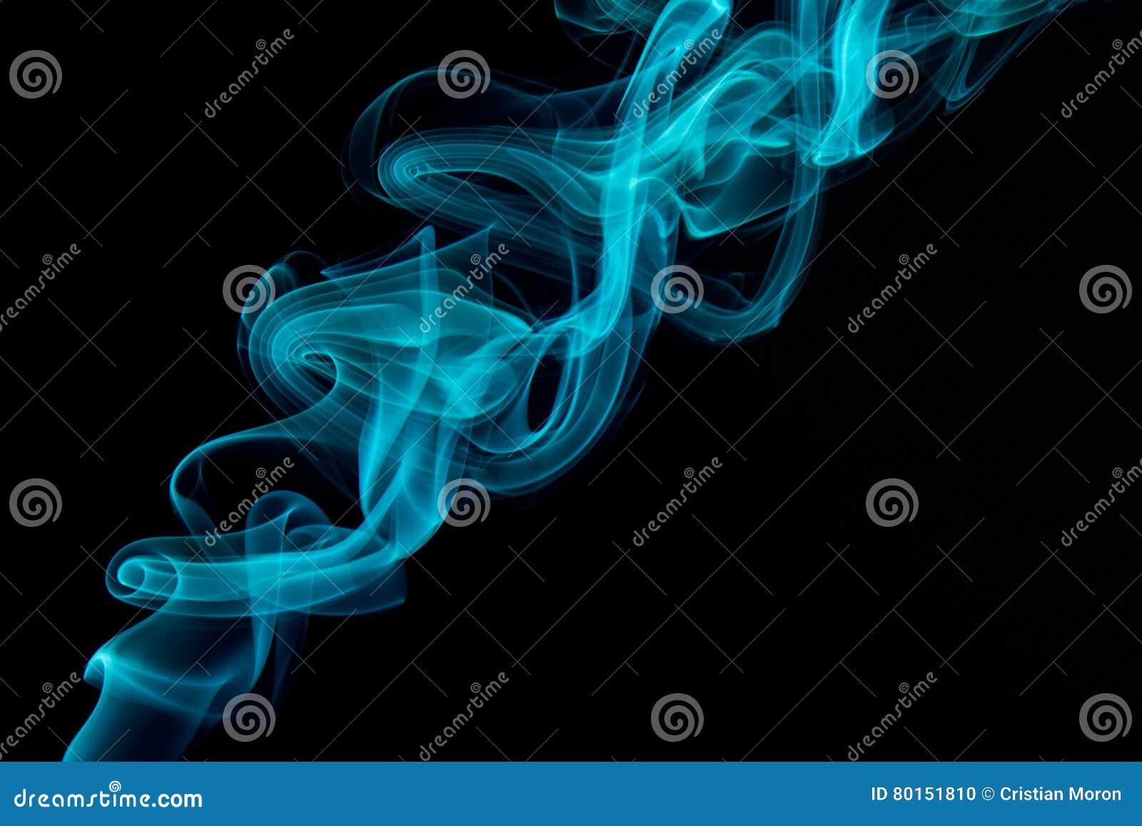 Blauer Rauch-Auszug