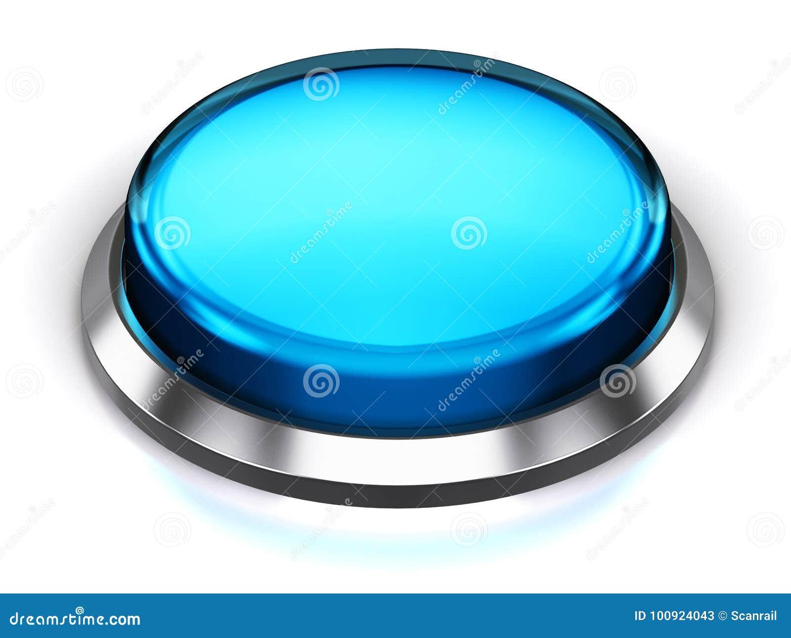 Blauer runder Knopf