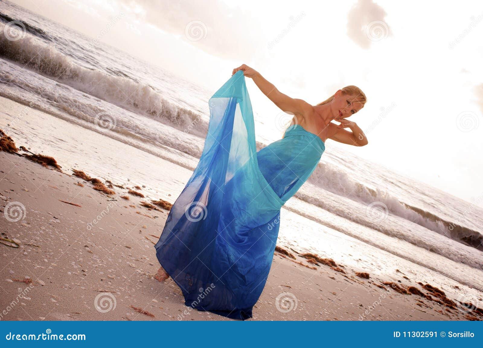 Blauer silk Tänzer
