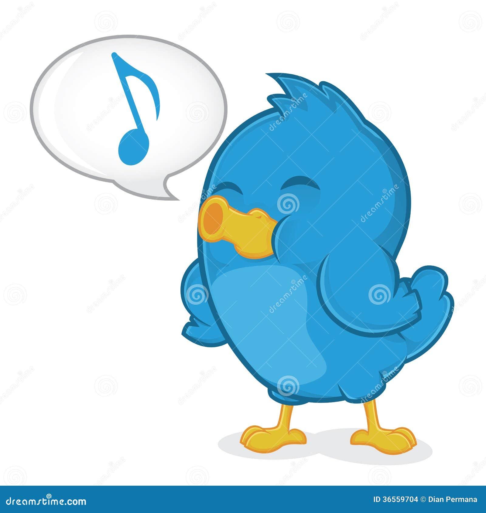 Blauer singender vogel vektor abbildung bild von kunst