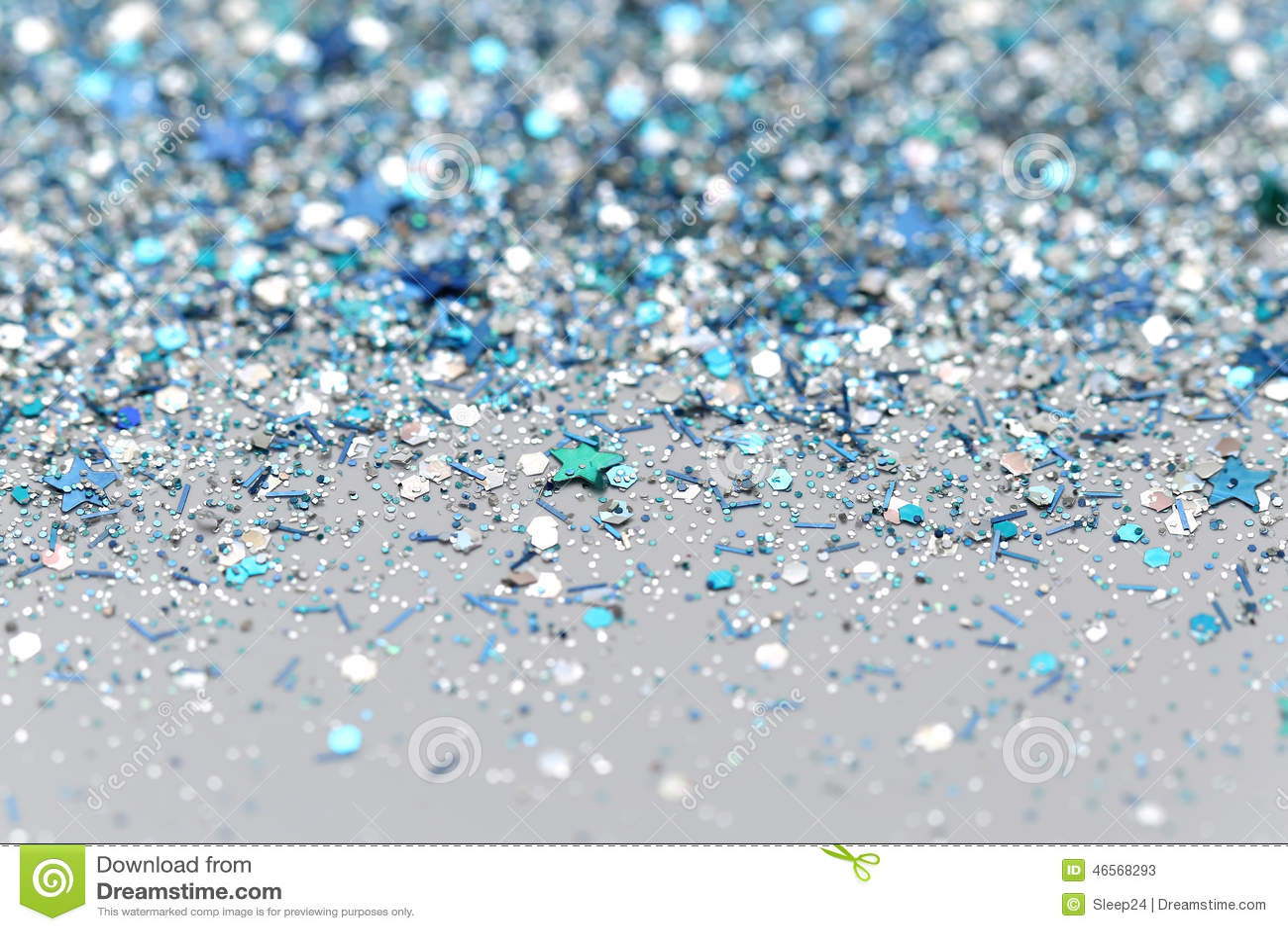 Blauer und silberner gefrorener Schnee-Winter-funkelnder Stern-Funkelnhintergrund Feiertag, Weihnachten, Zusammenfassungsbeschaff