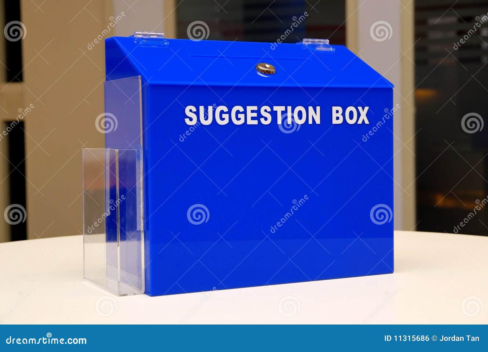Blauer Vorschlagskasten