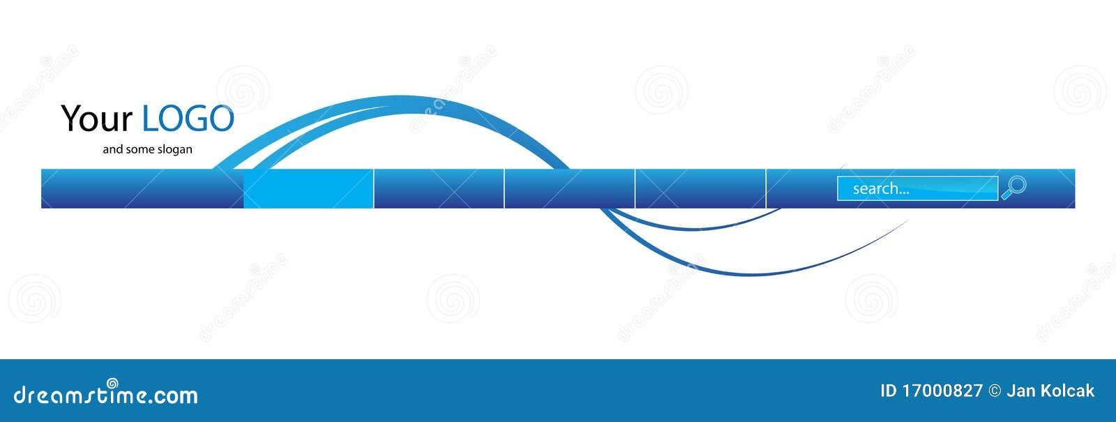 Blauer Web-Vorsatz