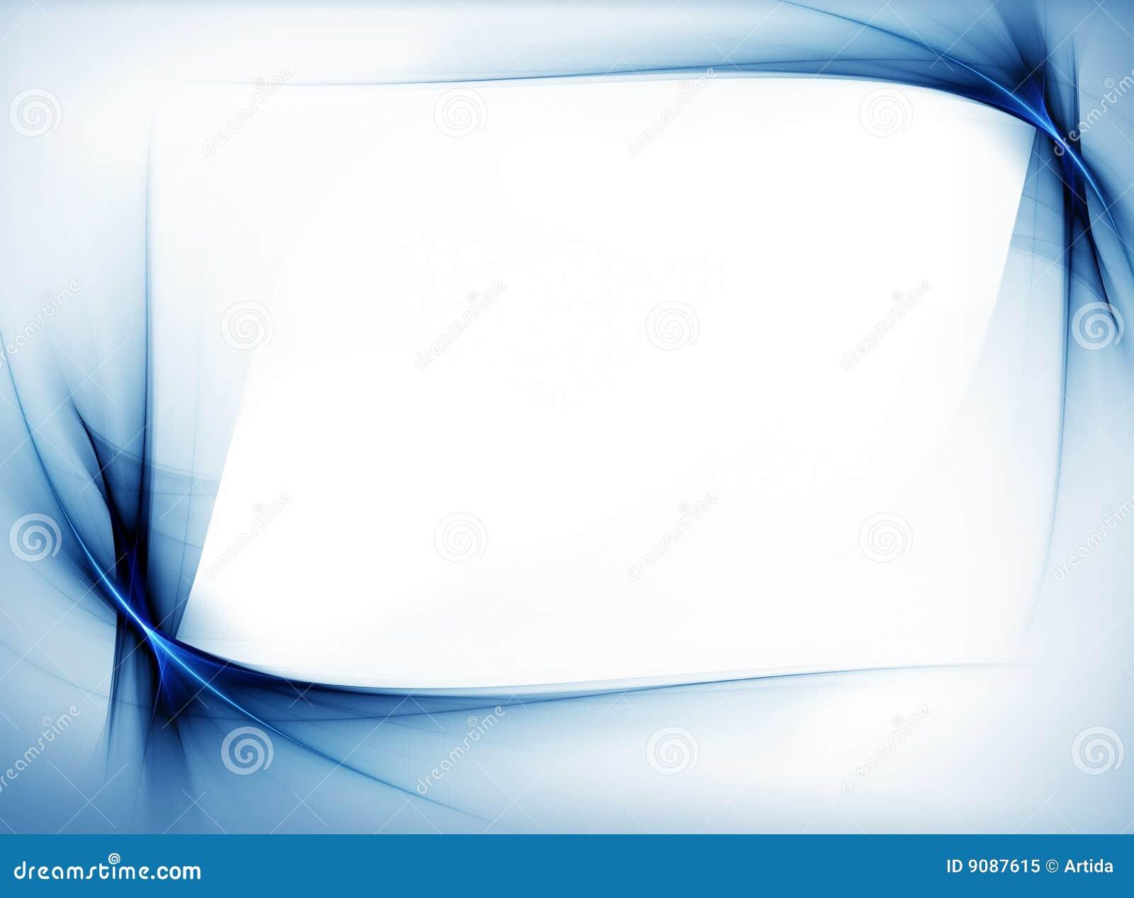 Blauer wellenförmiger Rand