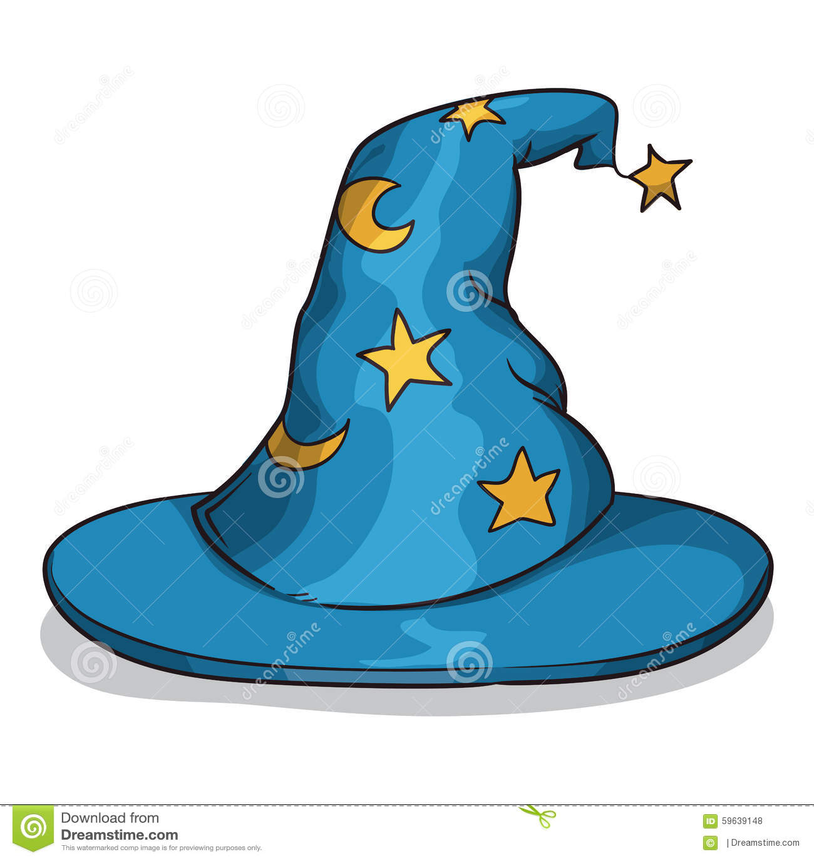 Blauer Zauberer-Hut