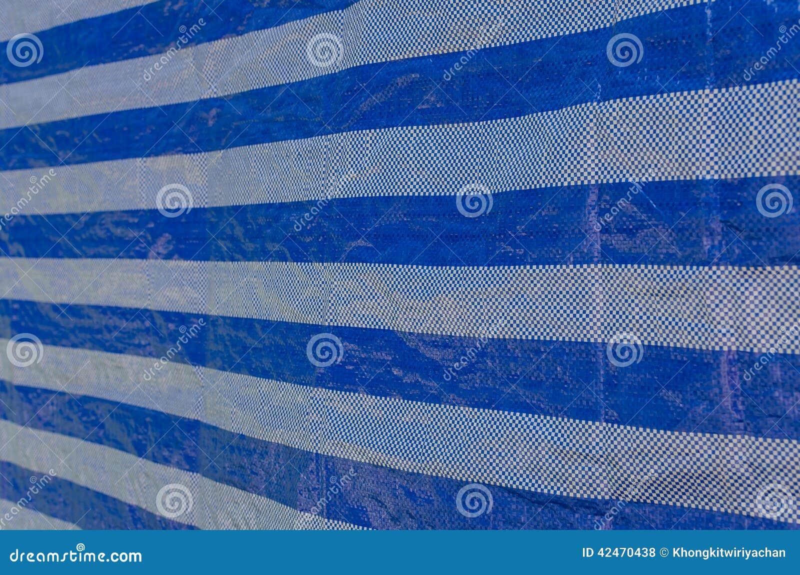 Blaues Blattplastikmuster