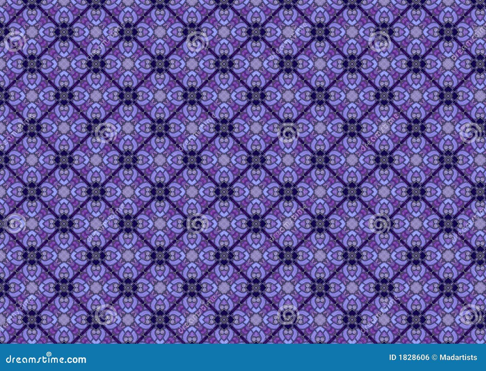 Blaues Buntglas-Muster