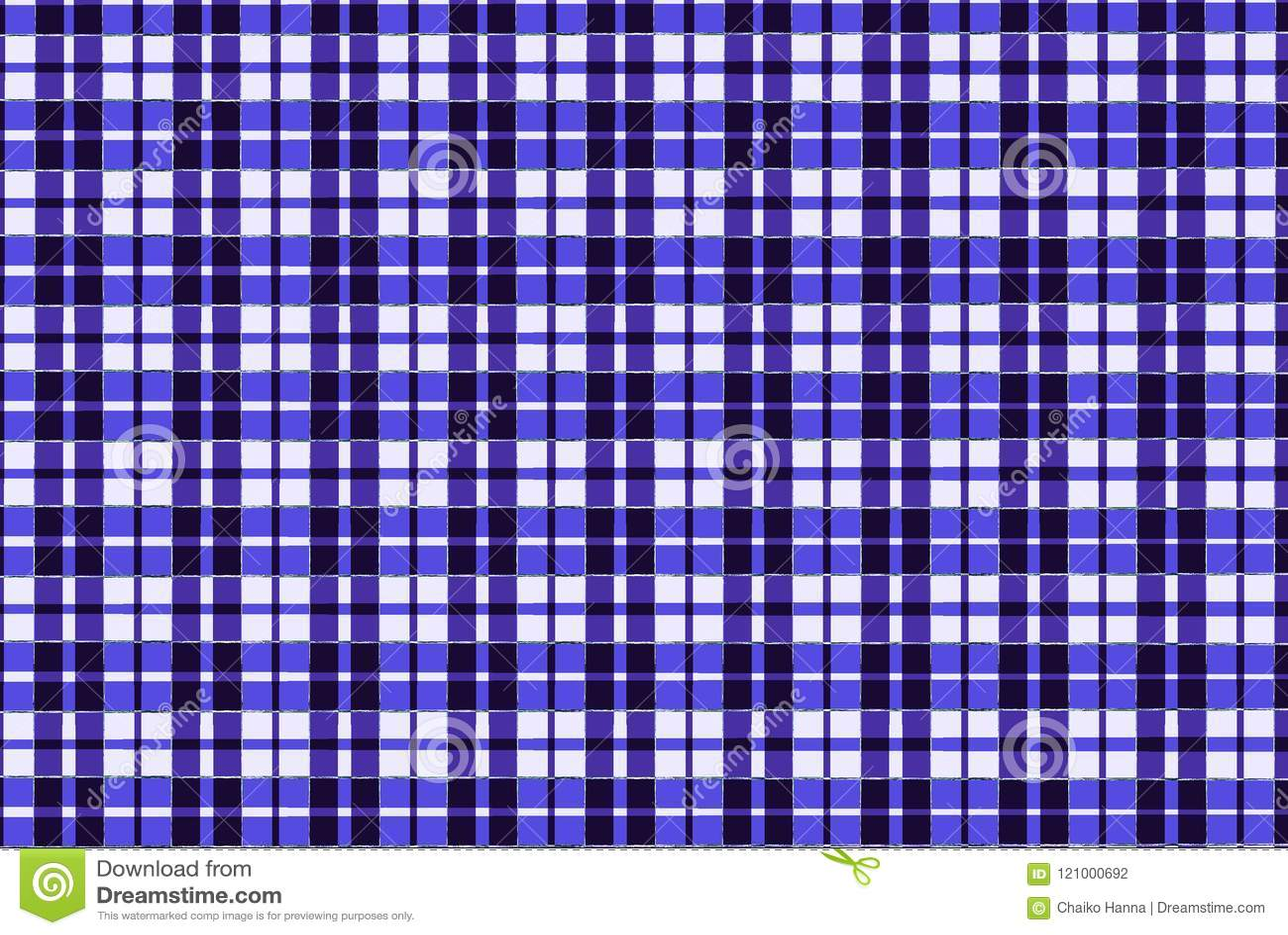 Blaues Gewebeschottischer quadratischer Musterhintergrund