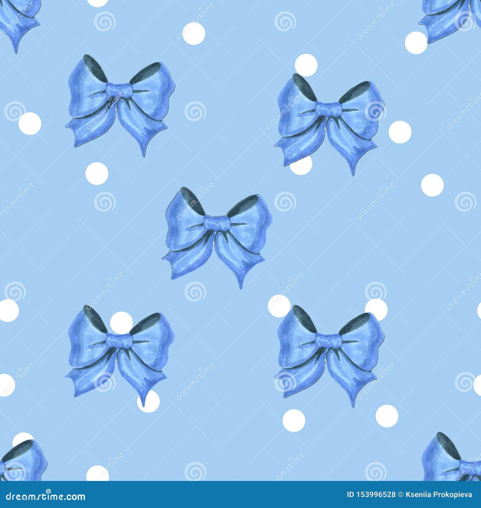 Blaues Muster der Weinlese mit weißen Punkten und blaue Bogengrafik