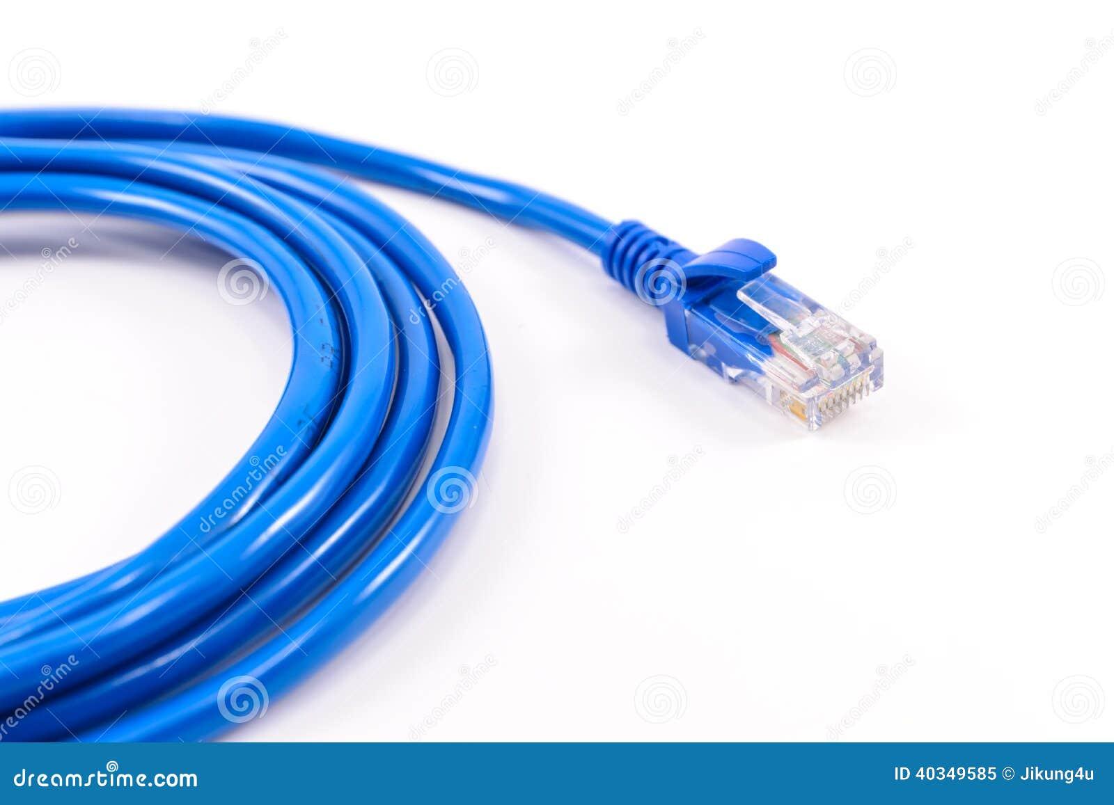 Blaues Netzkabel