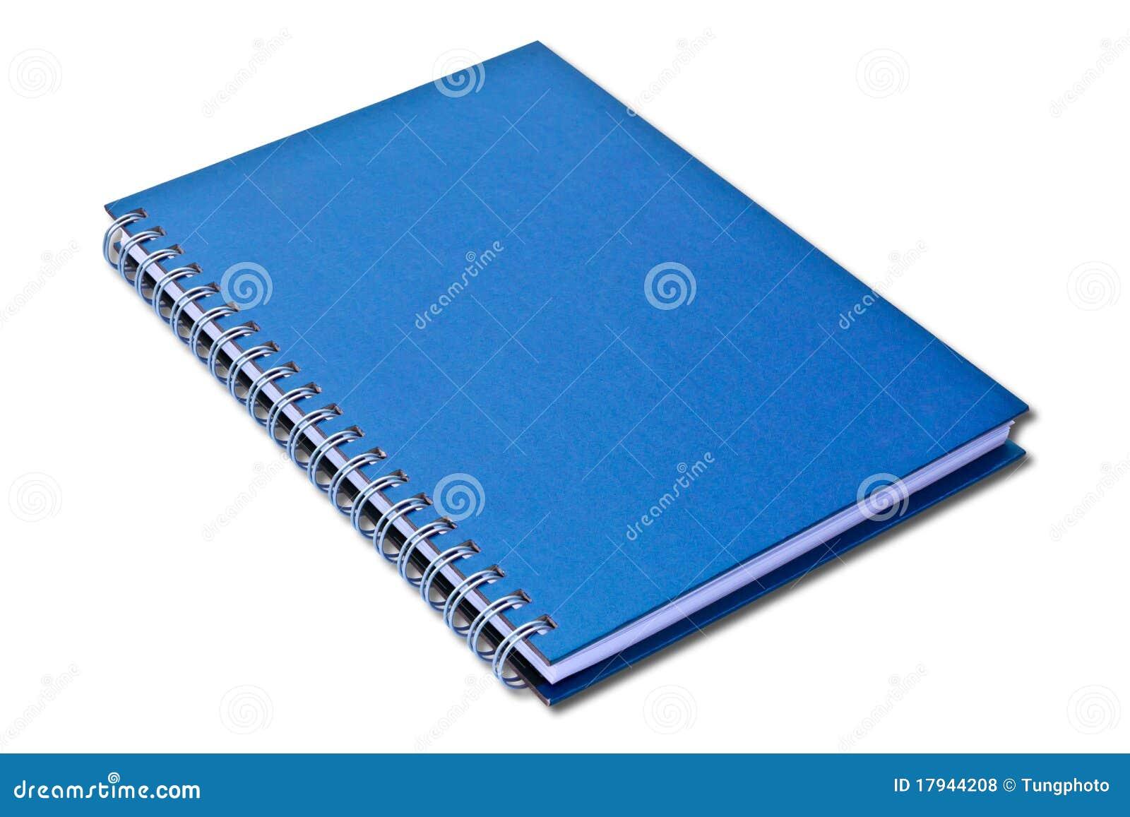 Blaues Notizbuch getrennt