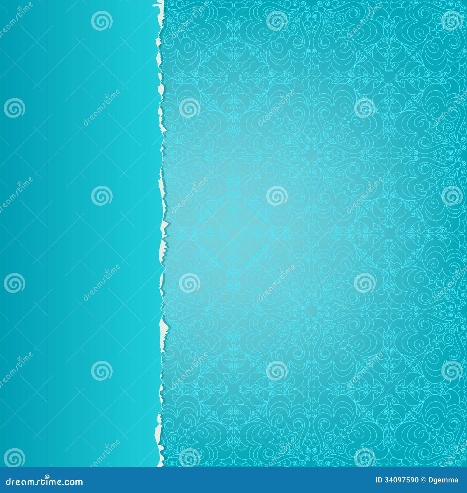 Blaues Papier Mit Einem Muster Vektor Abbildung ...