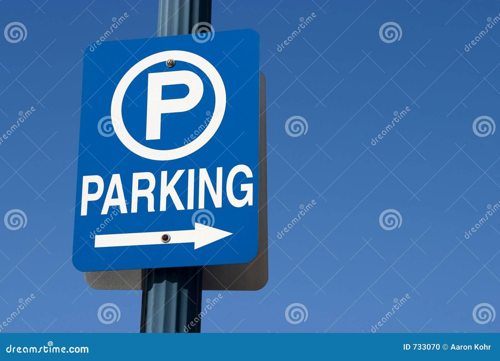 Blaues Parken-Zeichen