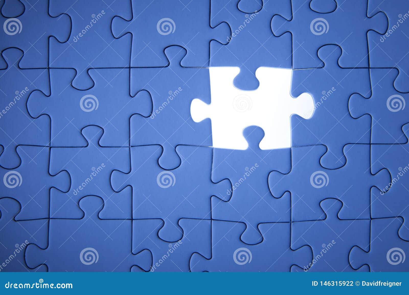 Blaues Puzzle Gesch?ftsl?sungen, Probleme, Wissenschaftstechnologie und Teamentwicklungskonzept l?send