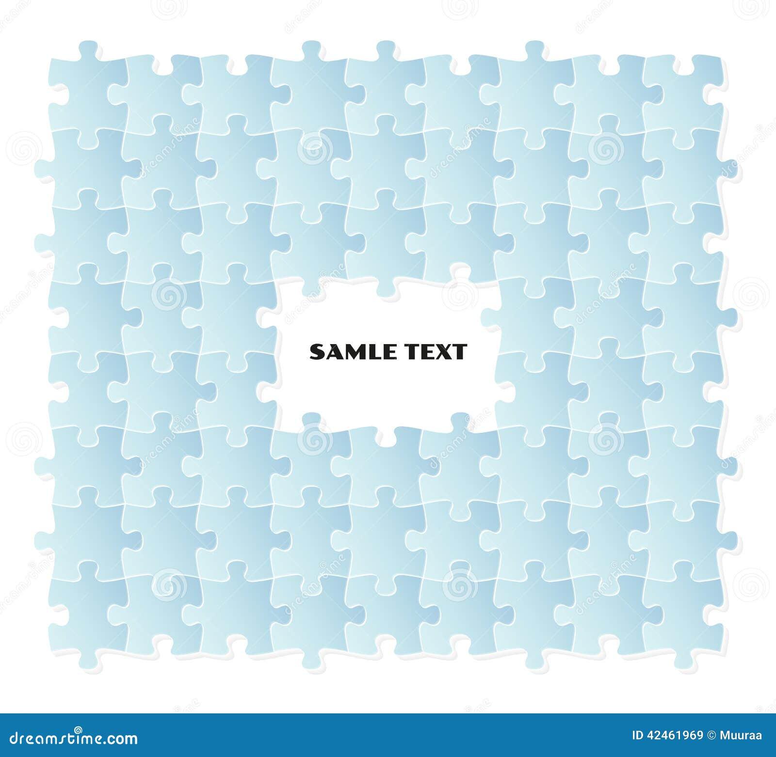 Blaues Puzzlespielfeld