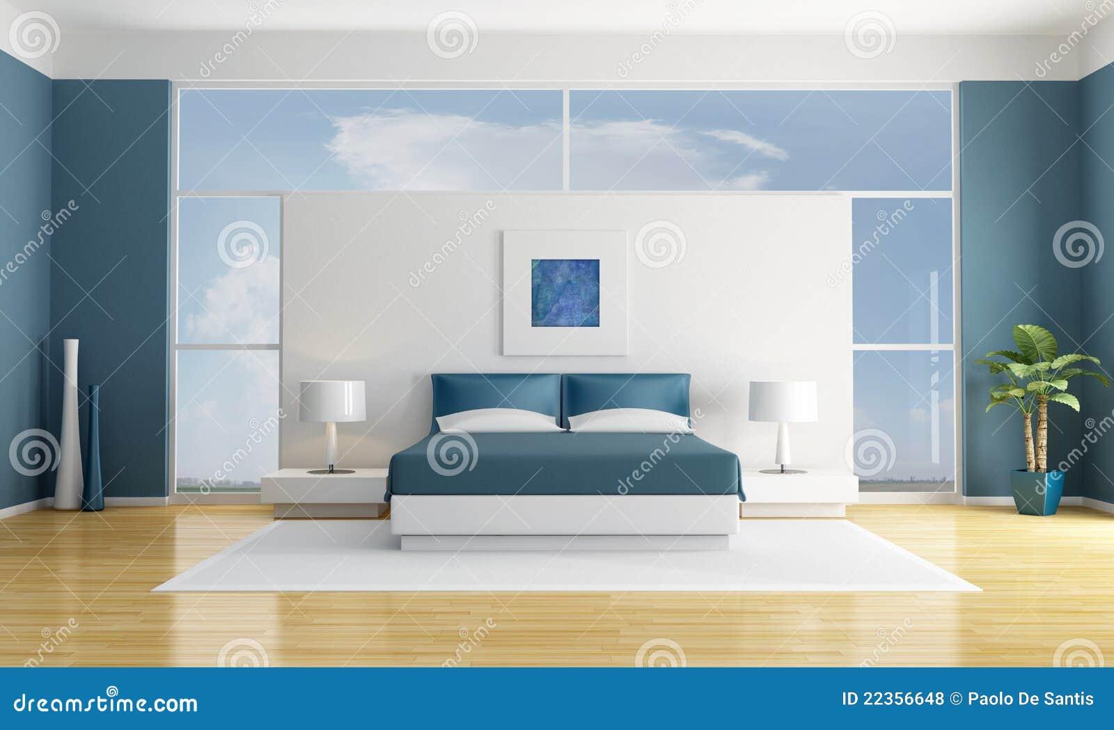 blaues schlafzimmer lizenzfreie stockfotos bild 22356648. Black Bedroom Furniture Sets. Home Design Ideas