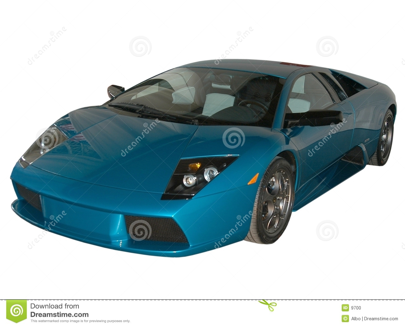 Blaues schnelles Auto