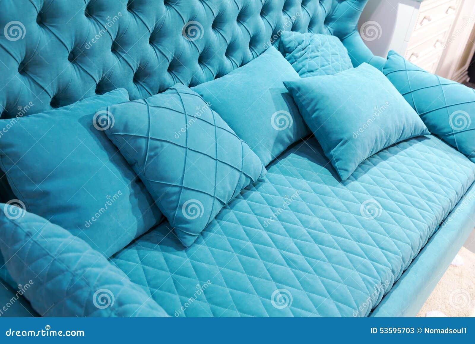Download Blaues Sofa Stockbild. Bild Von Möbel, Haupt, Stuhl, Lebensstil    53595703