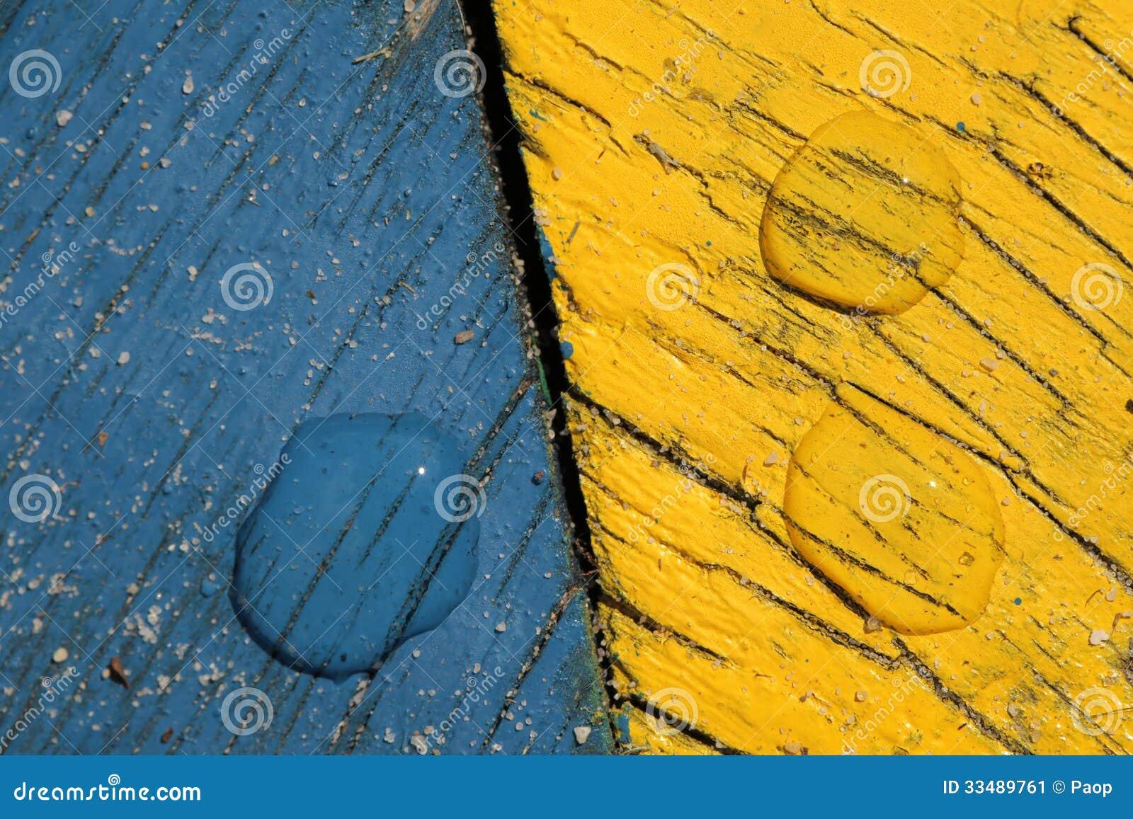 Blaues und gelbes backround
