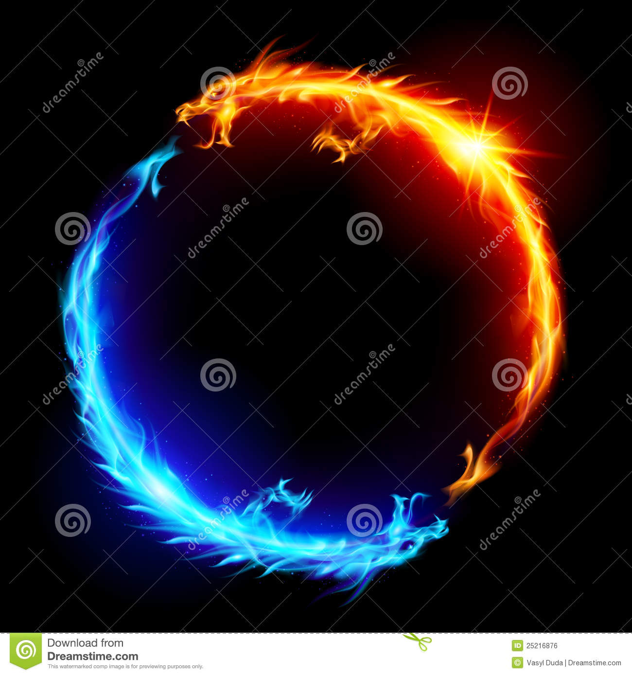 Blue Dragon Fire Ring