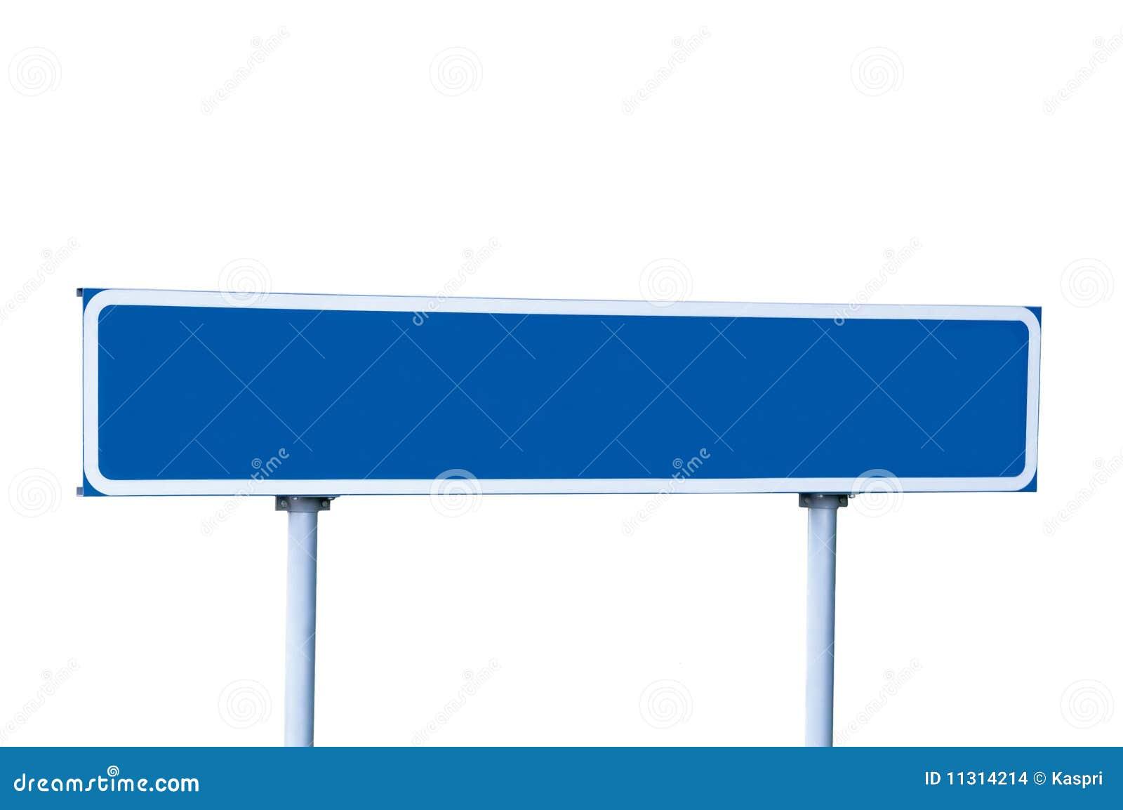 Blaues Verkehrsschild getrennt auf Weiß
