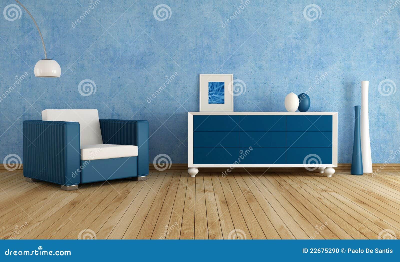 Blaues wohnzimmer stockfoto bild 22675290 - Blaues wohnzimmer ...