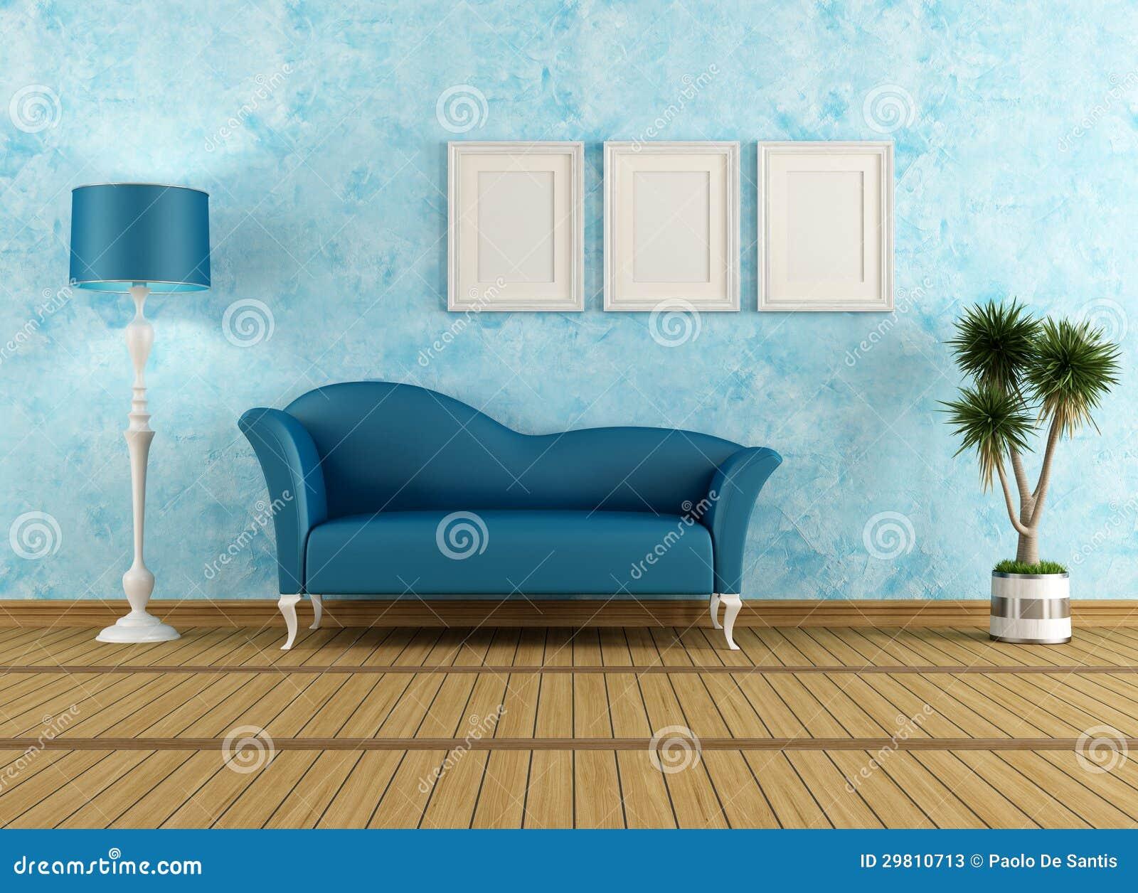 Wohnzimmer Blaues Sofa Midir