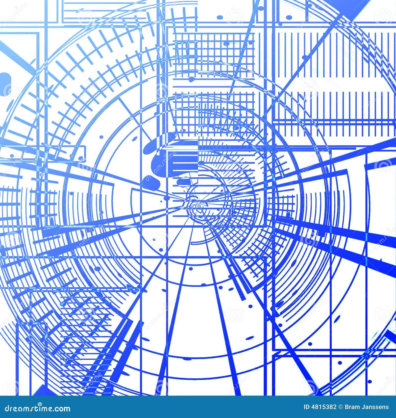 Blaupause stock abbildung. Illustration von abschluß, gebäude - 4815382
