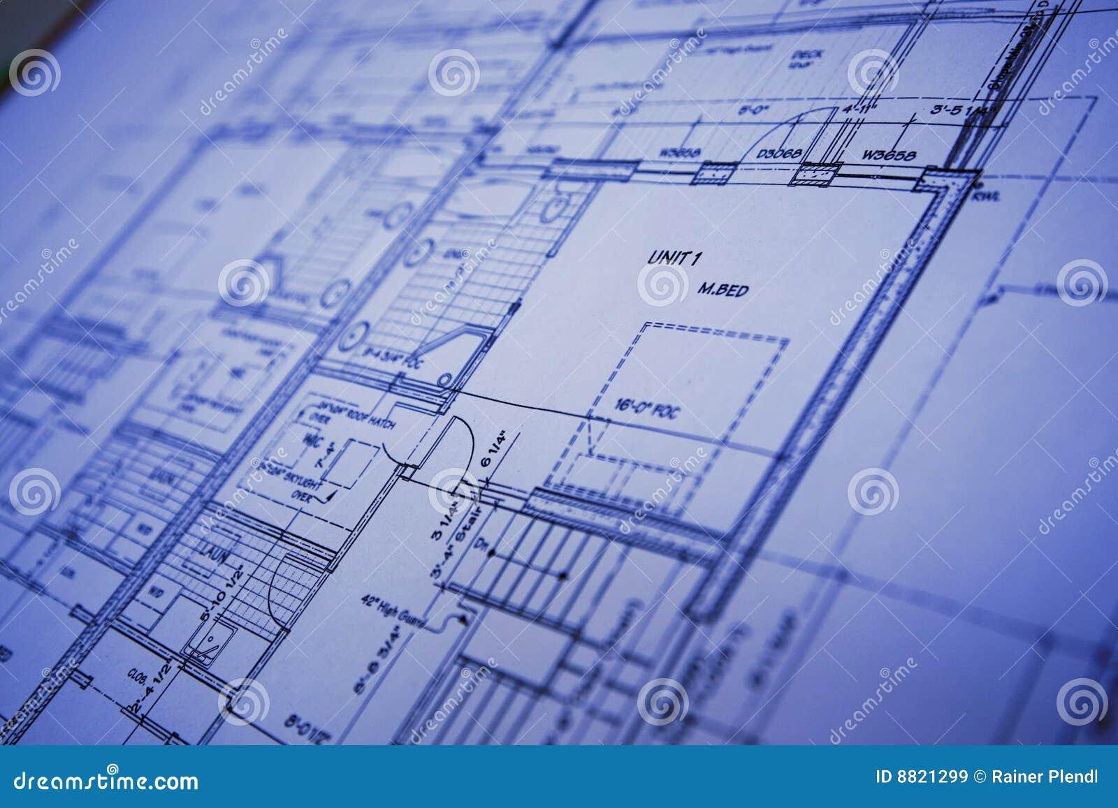Blaupause stockbild. Bild von auslegung, architektur, plan - 8821299