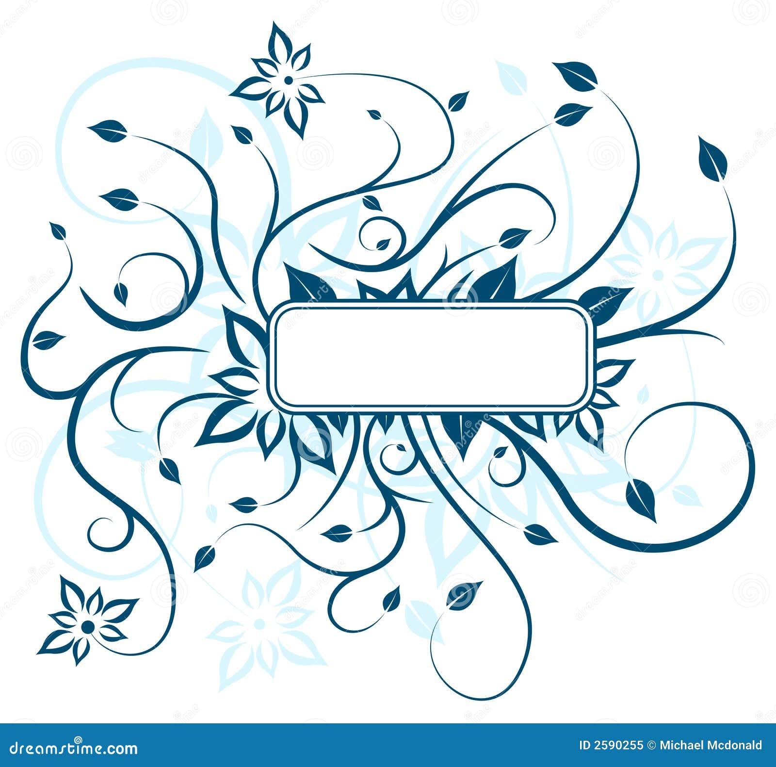 Blauw bloemenontwerp