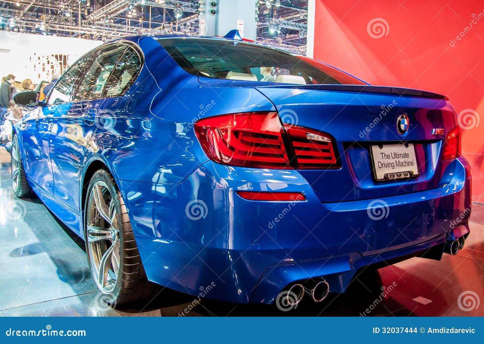 Blauw Bmw M5 Redactionele Stock Afbeelding Afbeelding