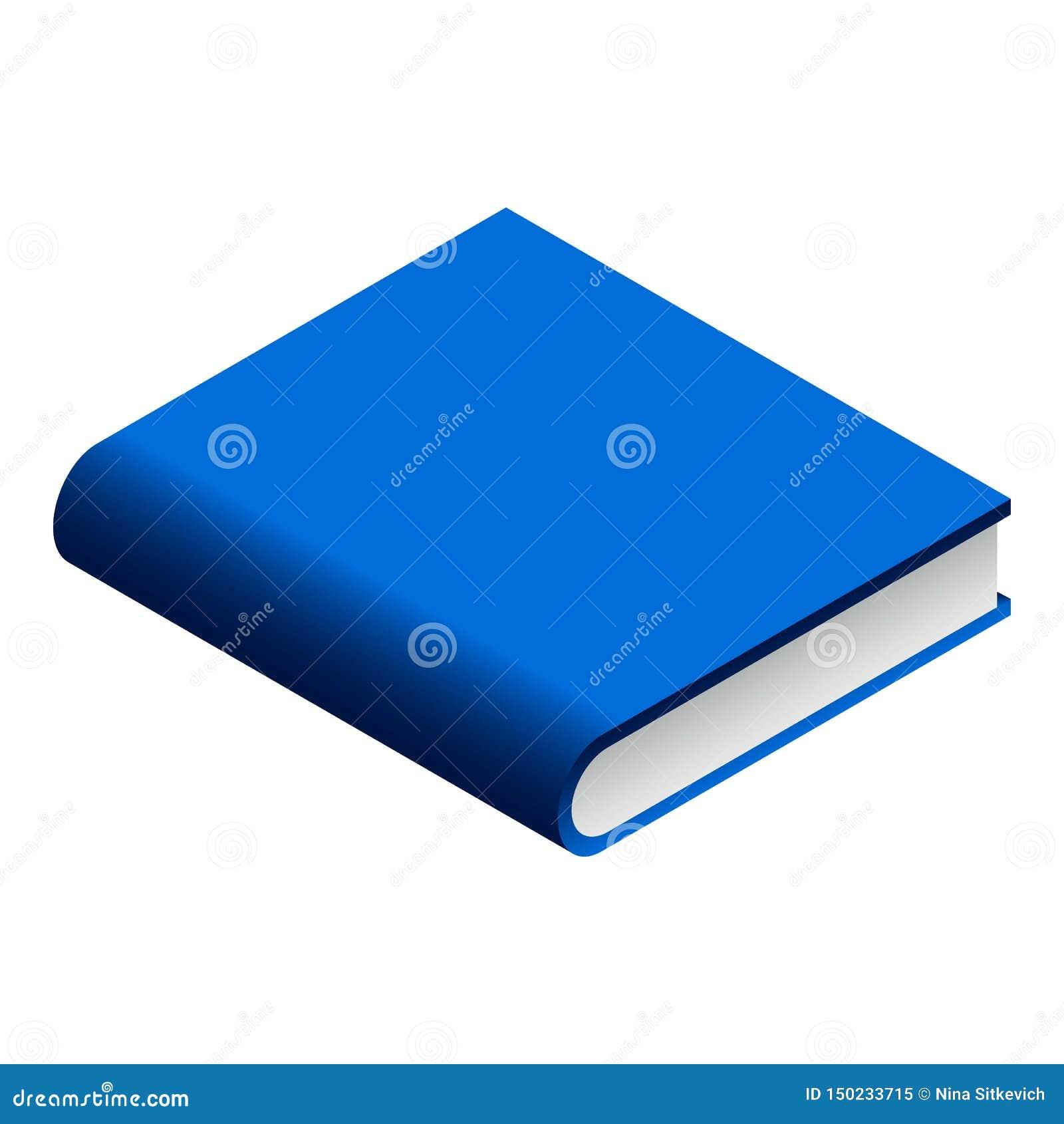 Blauw boekpictogram, isometrische stijl