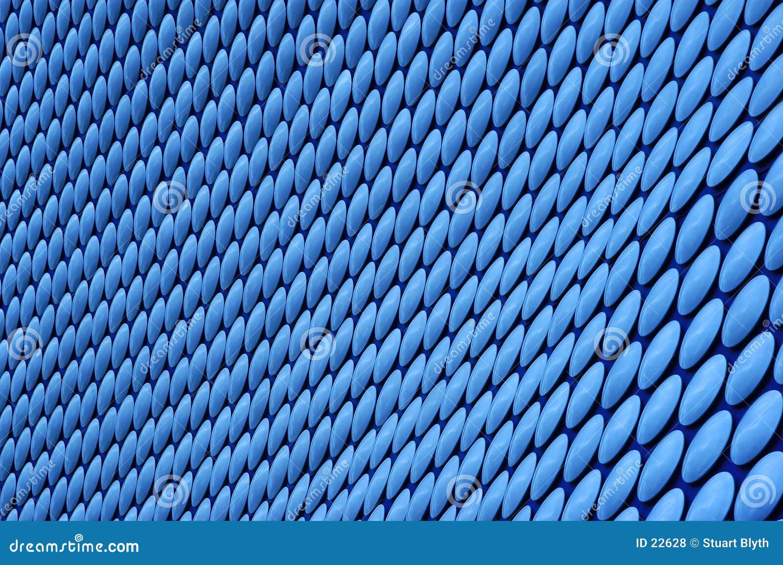 Blauw cirkelpatroon