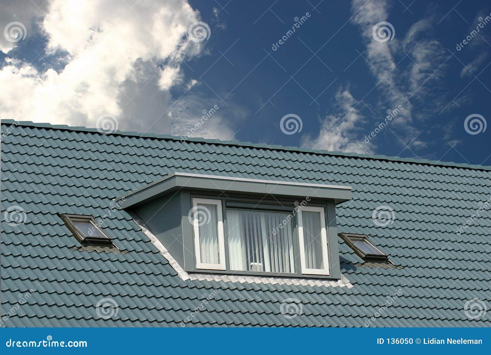 Blauw dak
